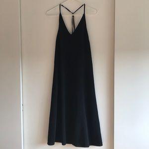 Top Shop black midi Halter dress size 2